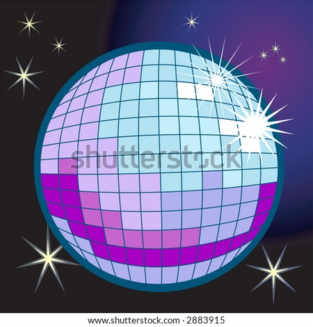 a disco or mirror ball. Raster version - stock photo