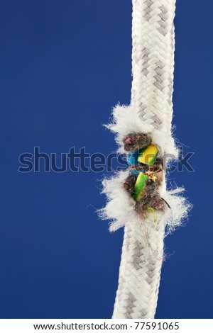 A disconnected power cable. If the supply of energy and power backed up? - stock photo