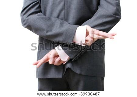 A dishonest business man - stock photo