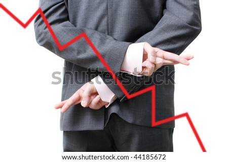 A dishonest business man - stock photo