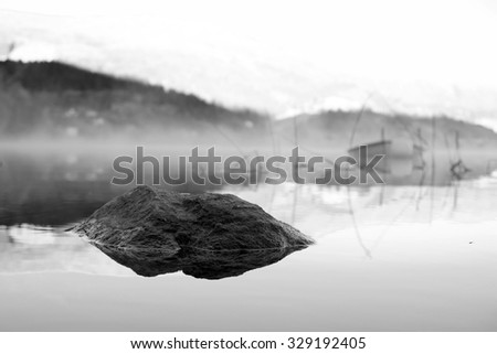 A Distant Boat - stock photo