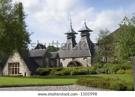 A distillery in Scotland's Spey valley - stock photo