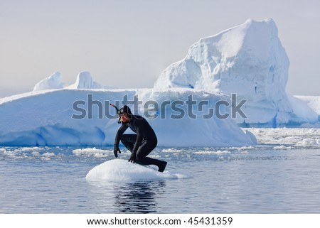 A diver on the ice