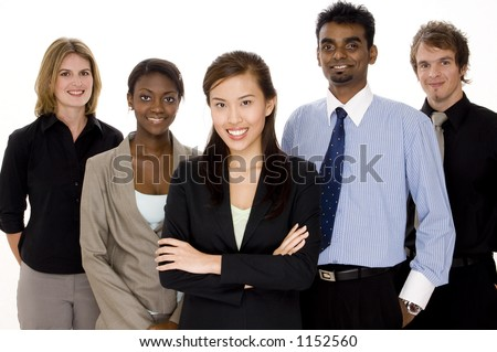 A diverse and multi-cultural business team - stock photo