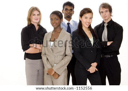 A diverse and young business team - stock photo