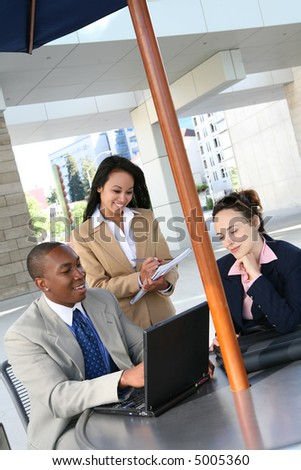 A diverse business group or team with several nationalities - stock photo