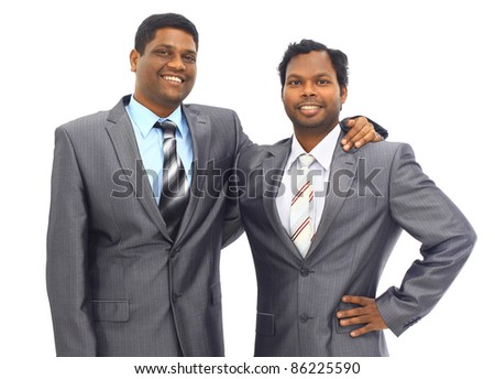 A diverse business man team walking down stairs - stock photo