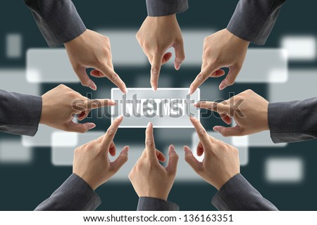 Pushing Hands Together With Hands Together Push