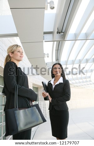 A diverse business woman team at their company - stock photo