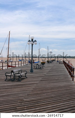 A dock in Colonia, Uruguay - stock photo