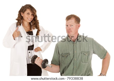 a doctor and patient - stock photo
