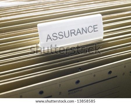 "a document cabinet with a folder called ""Assurance"""