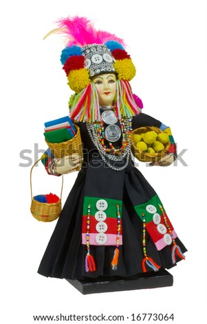 A doll from Thailand - stock photo