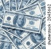 a dollar pattern - stock photo