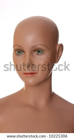 A dolls face - stock photo