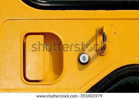 A door of the truck - stock photo