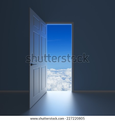 A doorway to Heaven - stock photo