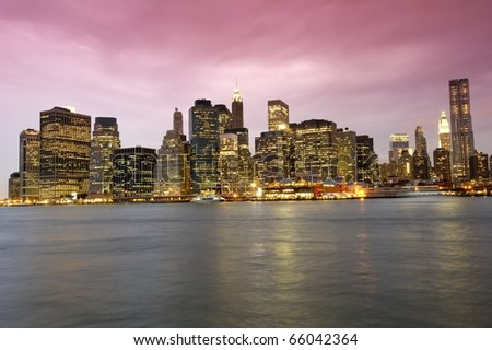 A dramatic and artistic interpretation of the skylie of New York City - stock photo