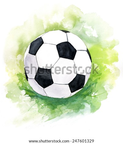 A drawing of a football (soccer) ball - stock photo
