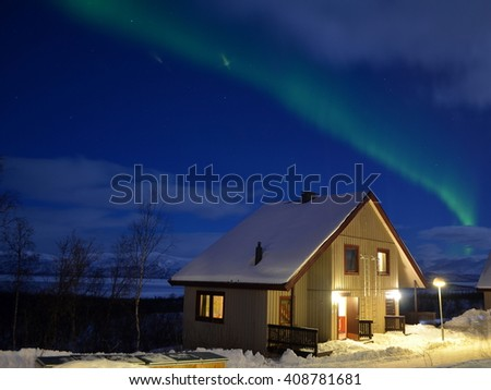 A dream house under the northern lights - a photo captured in Sweden