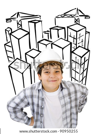 a dream of future architect - stock photo