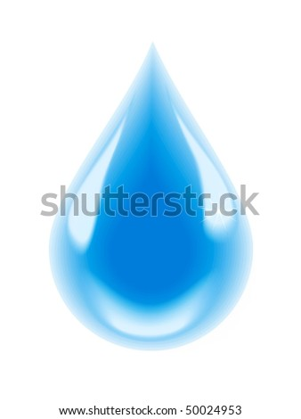 A drop of clean water - stock photo
