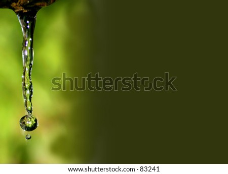 A drop of water - stock photo