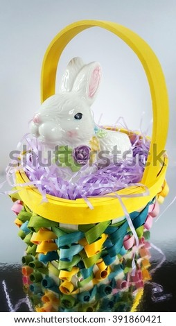 a easter bunny in a basket