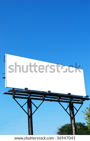 a empty ads signboard