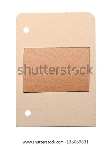 a empty card on white - stock photo
