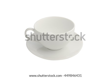 A empty cup of coffee on isolated background. - stock photo