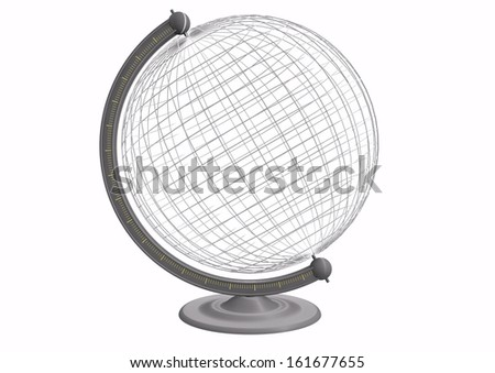 a empty globe with grid