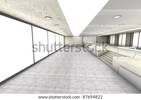 A empty office. Architectural visualisation. 3D rendered Illustration.