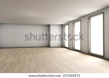 A empty residential room of a available apartment or house.  - stock photo