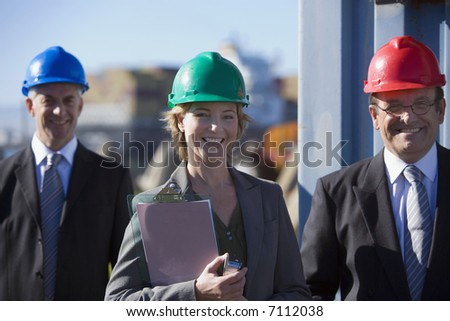 A engineering team on survey - stock photo
