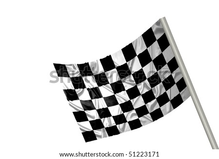 A F1 flag with checkered pattern - stock photo