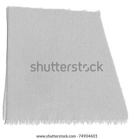 A fabric sample isolated over white background - stock photo