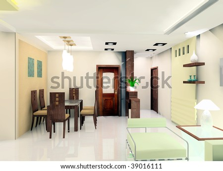 a faddish kitchen illustration design