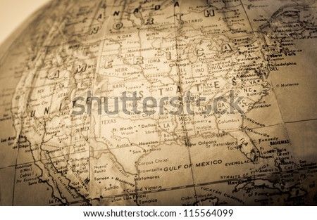 A faded colored  map - stock photo
