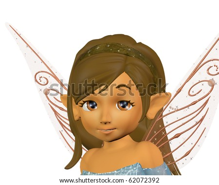 a fairy elf portrait 3D render