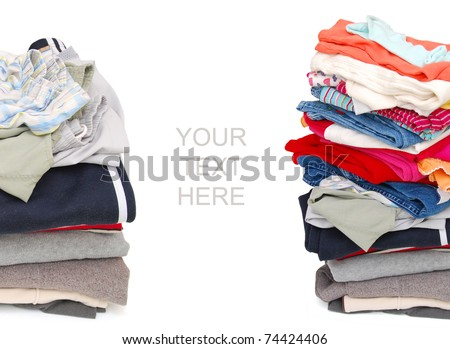 A family clothing background - stock photo