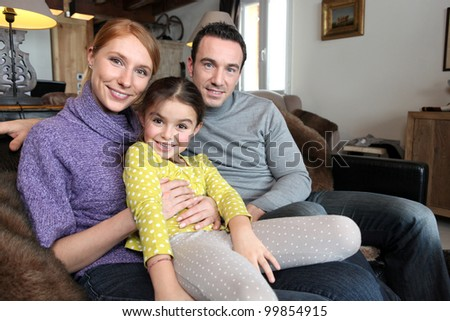 A family portrait - stock photo