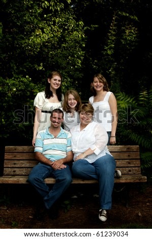 A family portrait in an outdoor park