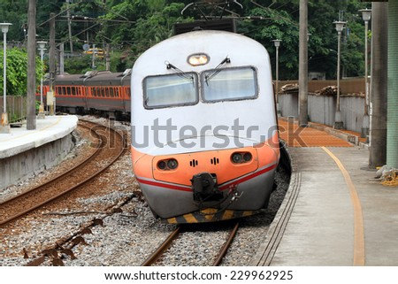 A famous train in Taiwan - stock photo