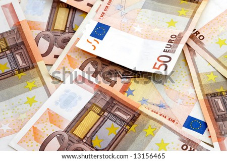 A fan of 50 Euro bank background