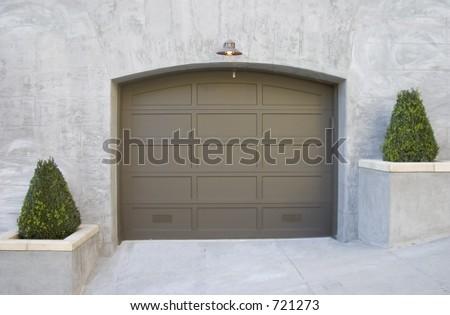 A fancy new garage. - stock photo
