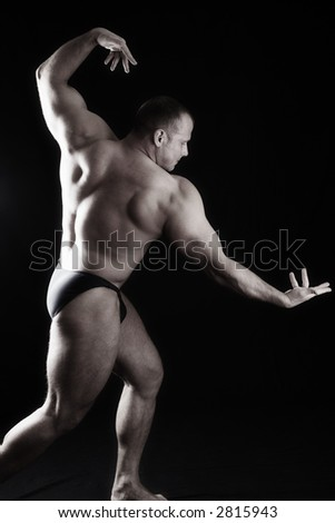 A FANTASTIC IDEA TO ADVERTISE GOODS WITH CONCEPTION: STRENGTH, POWER, ENERGETIC, RELIABILITY - stock photo