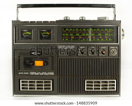 a fantastic looking retro ghetto blaster radio