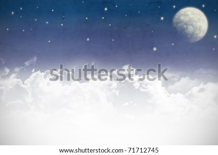 A fantasy cloudscape textured fabric background
