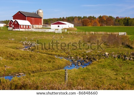 A farm house on the country side. - stock photo